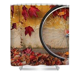 Red Autumn Shower Curtain by Yuri Santin