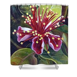 Pineapple Guava Flower Shower Curtain