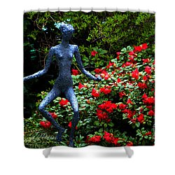 Shower Curtain featuring the photograph Red Azalea Lady by Susanne Van Hulst