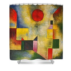 Red Balloon Shower Curtain by Paul Klee