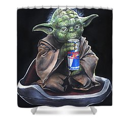 Red Bantha Shower Curtain by Tom Carlton