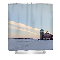 Shower Curtain featuring the photograph Red Barn by Dan Traun