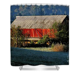 Shower Curtain featuring the photograph Red Barn by Douglas Stucky