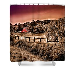 Shower Curtain featuring the photograph Red Barn by Joseph Hollingsworth