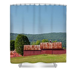 Shower Curtain featuring the photograph Red Barn Near Quechee by Susan Cole Kelly