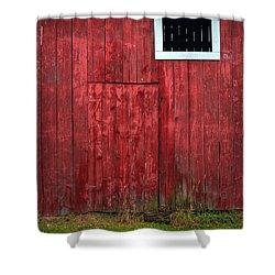 Red Barn Wall Shower Curtain by Steve Gadomski