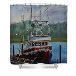 Red Baron Shower Curtain