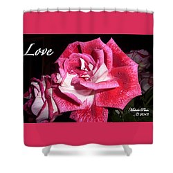 Red Beauty 3 - Love Shower Curtain