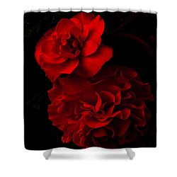 Red Begonia Shower Curtain by Lynn Hughes