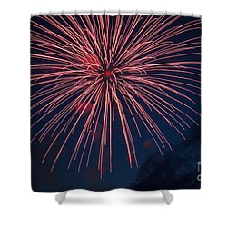 Shower Curtain featuring the photograph Red Blast by Robert Bales