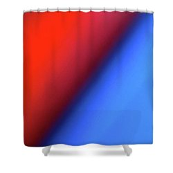 Shower Curtain featuring the photograph Red Blue by CML Brown