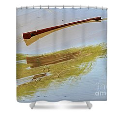 Shower Curtain featuring the photograph Red Board Over The Dam by Steve Augustin