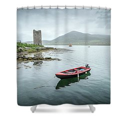 Red Boat Shower Curtain by Marty Garland