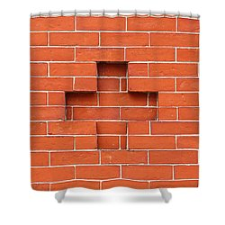 Red Brick Cross Shower Curtain