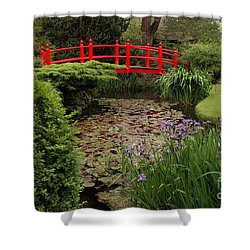 Shower Curtain featuring the photograph Red Bridge by PJ Boylan