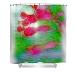 Red Buckeye Shower Curtain