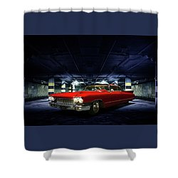 Red Caddie Shower Curtain