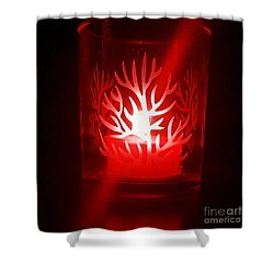 Red Candle Light Shower Curtain