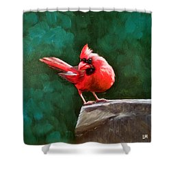 Red Cardinal Shower Curtain