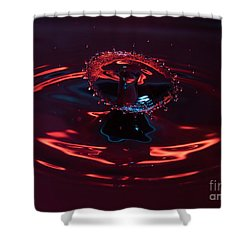 Red Carousel Shower Curtain