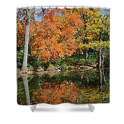 Red Cedar Banks Shower Curtain