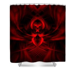 RED Shower Curtain by Cherie Duran