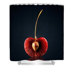 Red Cherry Still Life Shower Curtain by Johan Swanepoel