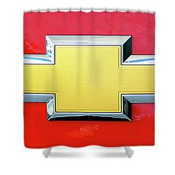 Red Chevy Bowtie Shower Curtain