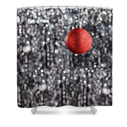 Shower Curtain featuring the photograph Red Christmas  by Ulrich Schade