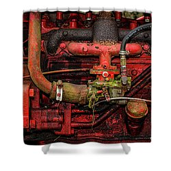 Shower Curtain featuring the photograph Red by Christopher Holmes
