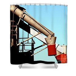 Shower Curtain featuring the photograph Red Chutes by Stephen Mitchell
