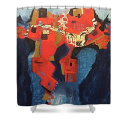 Red City Shower Curtain