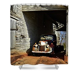 Red Clay History Shower Curtain by Laura Ragland