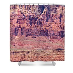 Red Cliff Horses Shower Curtain