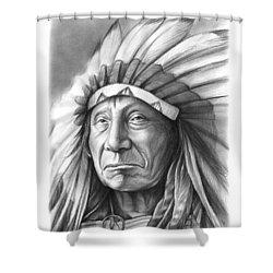 Red Cloud Shower Curtain by Greg Joens