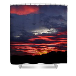 Red Cloud Mountain Shower Curtain