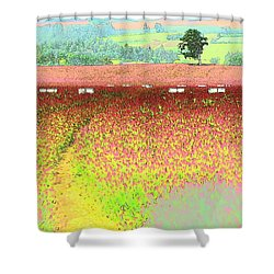 Shower Curtain featuring the photograph Red Clover Tree by Jerry Sodorff