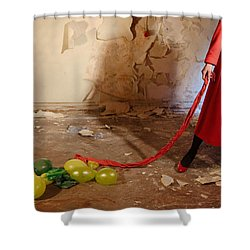 Red Coat #4810 Shower Curtain