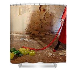 Red Coat #4810 Shower Curtain by Andrey Godyaykin