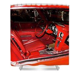 Red Corvette Stingray Shower Curtain