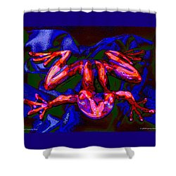 Red Crunchy Frog Shower Curtain