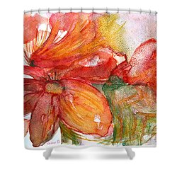 Red Dance Shower Curtain