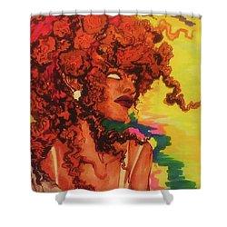 Red Dawn Shower Curtain