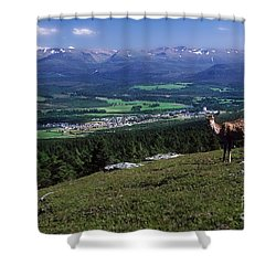 Shower Curtain featuring the photograph Aviemore And The Cairngorms by Phil Banks