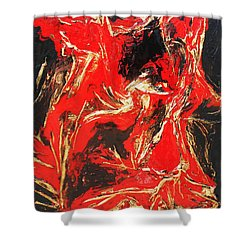 Red Distressed Shower Curtain
