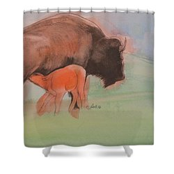 Red Dog Shower Curtain