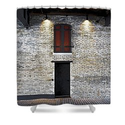 Red Door Shower Curtain by David Blank