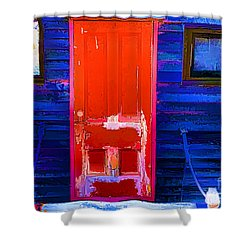 Red Door Harbor Shower Curtain