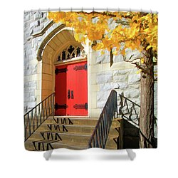 Red Door Tradition Shower Curtain