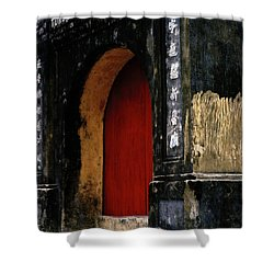 Red Doorway Shower Curtain